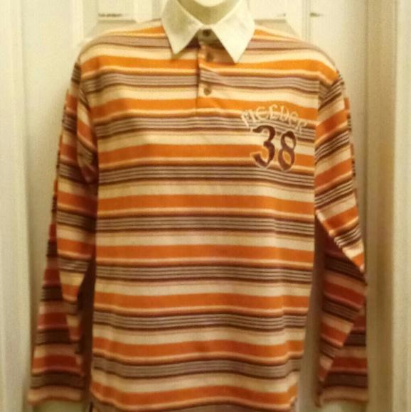 PUSH Other - Orange/brown long sleeve shirt